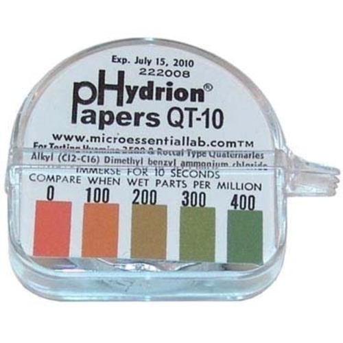 AllPoints Hydrion Test Papers QT10 (CCC item Q-1094) (NET Price) - 85-1285