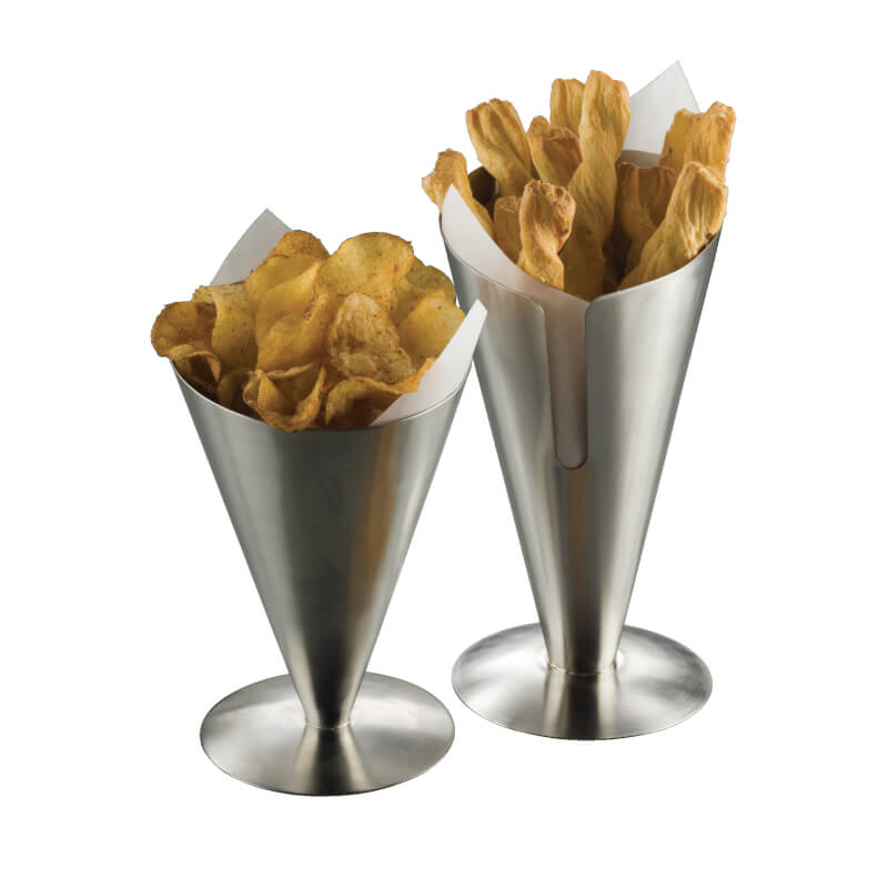 American Metalcraft Fry Cone Holder/Stand - SSFC7 (CASE OF 6)