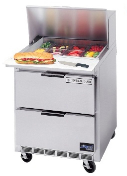 "beverage air food sandwich prep tables 27"" sped27c"