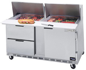 beverage air commercial food prep tables 60