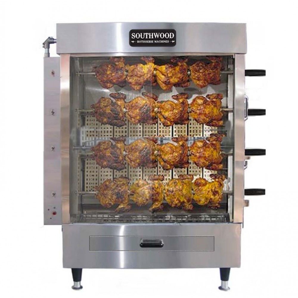 Southwood RG4 20 Chicken Commercial Rotisserie Oven Machine, Gas