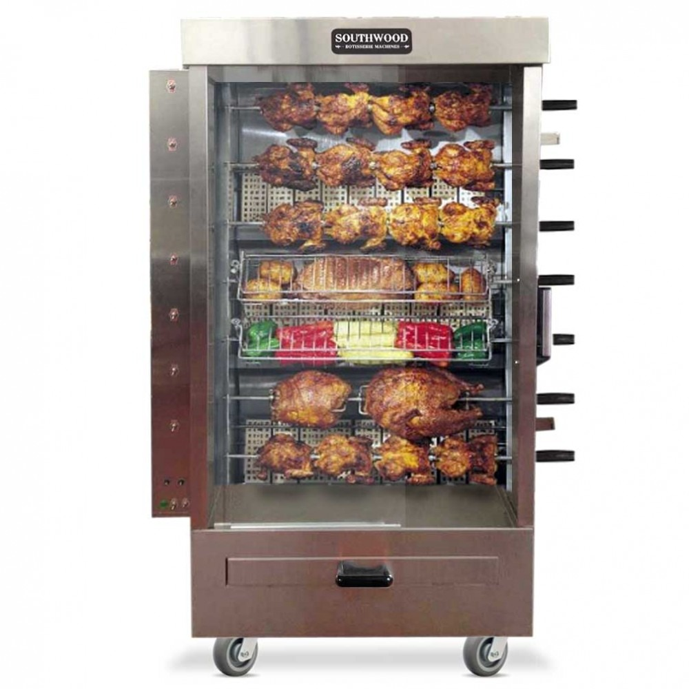 Southwood RG7 35 Chicken Commercial Rotisserie Oven Machine, Gas