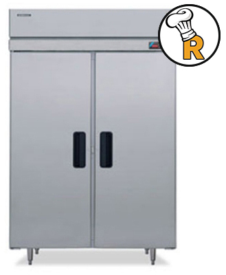 hoshizaki commercial reach-in freezer pro series self contained 2-section half door model fh2-ssb
