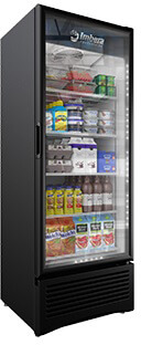 imbera prime 19 cft commercial refrigerator single glass door display #g319