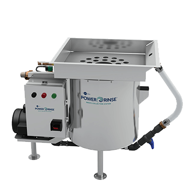InSinkErator PowerRinse Standard (Model PRS) - Complete Waste Collection System Package. Requires only 1 GPM (3.79 LPM) of fresh water per hour. Pre-rinse and scrapping system with 30 GPM (113.56 LPM) recirculated water flow capability - PRS