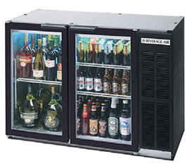"beverage-air commercial refrigeration glass door 23"" back bar bb48gy-1-b"