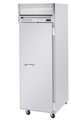 beverage-air commercial refrigerator reach-in 1-section full door stainless steel top mount hr1-1s