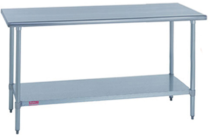 "duke aerohot commercial worktable flat top 36""x60"" stainless steel undershelf model 314s-3660"