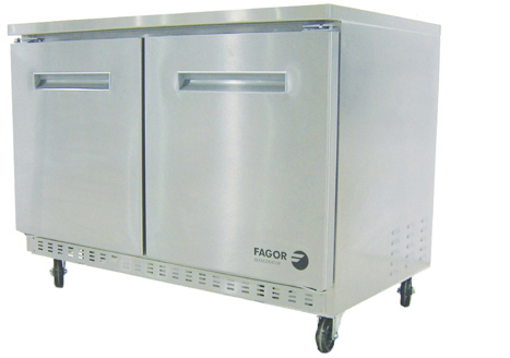 "fagor commercial restaurant 60"" under counter refrigerator fur-60"