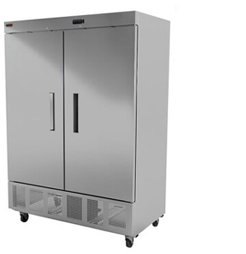 fagor commercial reach-in freezer solid double door 49 cft value series model qvf-2