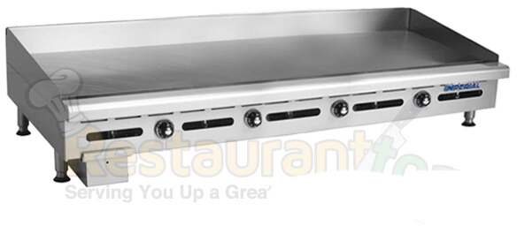 "imperial commercial griddle thermostat controlled heavy duty 48"" steel plate nat gas model itg-48"