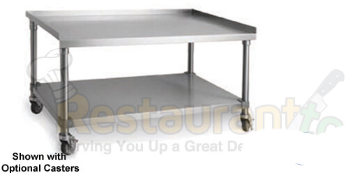 """imperial commercial prep table with undershelf 18"""" stainless steel model ihms-18"""
