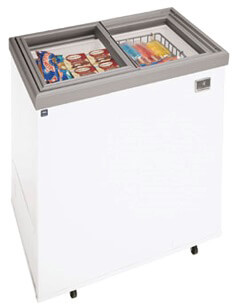 kelvinator commercial ice cream novelty freezer 7.2 cft model kcg070gw (discontinued in stock depletion - see model kcnf070qw)