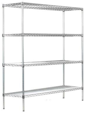 """stortec commercial storage shelving gray epoxy 6mm thick 14""""d x 24""""w x 74""""h"""