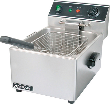 Adcraft Single Tank Deep Fryer   Model DF-6L