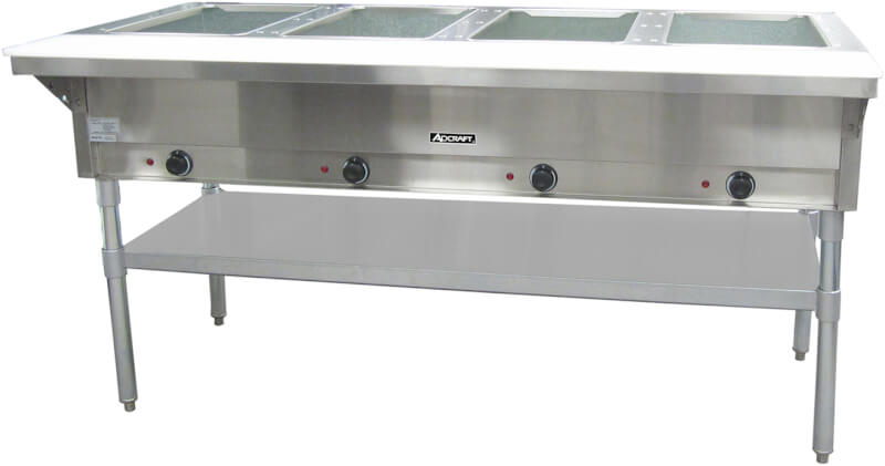 RestaurantTorycom Electric Steam Tables - 4 well gas steam table
