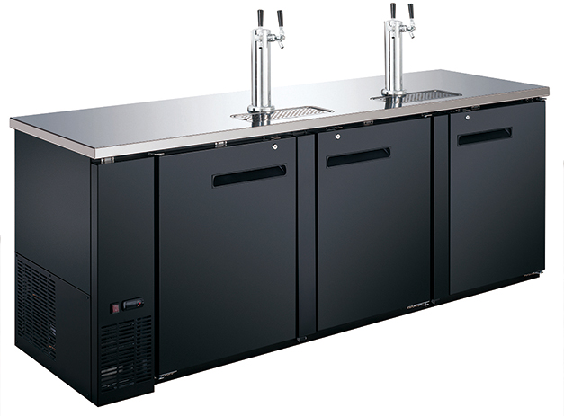 """Adcraft 90"""" Wide Beer Dispenser, 2 Dual Tap Towers- USBD-9028-2"""
