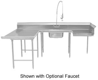 Advance Tabco Dishtable soiled left-to-right - DTS-U30-84L