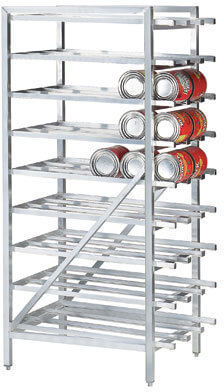 Advance Tabco Can Stationary Design w/ Bullet Feet Rack Model CR10-162