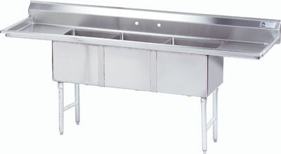 Advance Tabco Fabricated 96 Three Compartment Sink Fc-3-1620-24Rl