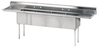 Advance Tabco 108 Fabricated Four Compartment Sink () Fe-4-1812-18Rl