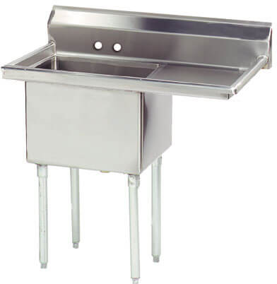Advance Tabco 36.5 Fabricated One Compartment Sink () Fe-1-1620-18R