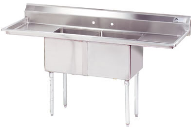 Advance Tabco 72 Fabricated Two Compartment Sink () Fe-2-1812-18Rl