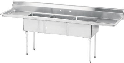 Advance Tabco 60 Fabricated Three Compartment Sink () Fe-3-1014-15Rl