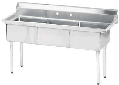 Advance Tabco 35 Fabricated Three Compartment Sink () Fe-3-1014