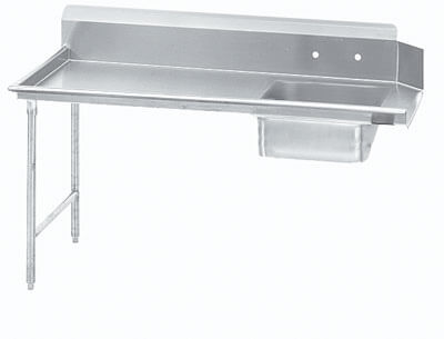 Advance Tabco 48 Straight-Soil Dish Table (Left To Right) Dts-S60-48L
