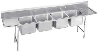 Advance Tabco 110 Regaline Four Compartment Sink Model 9-4-72-18RL