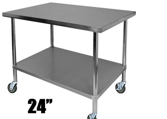 Amana Commercial Stand 24In Cart With Casters Stainless Steel CA24