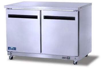 Arctic Air Two Door Under-Counter/Worktop Refrigerator Model AUC48R