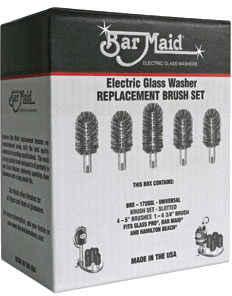 Bar Maid Glass Washer Universal Replacement Slotted Brush Set - BRS-1720SL