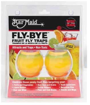 Bar Maid Fruit Fly Trap FLY-BYE (12 Pack)