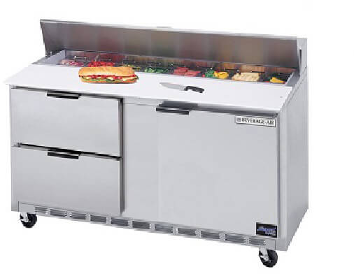"""Beverage Air Commercial Food Prep Tables 60"""" SPED60-08C-4"""