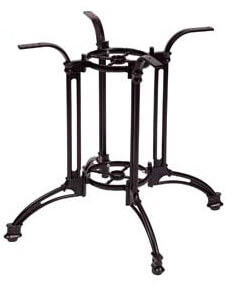 "Boca 33"" Aluminum Table Base Black Powder Coat Model PHTB502"