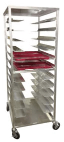 Carter-Hoffmann Aluminum Room Service cart for patient trays - AL12