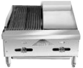 Comstock-Castle Char-Broiler/Griddle counter model - FHP24-12-1RB