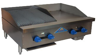 Comstock-Castle Char-Broiler/Griddle counter model - FHP36-18-1.5RB