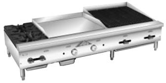 Comstock-Castle Hotplate/Griddle/Char-Broiler Counter - FHP60-24-2RB