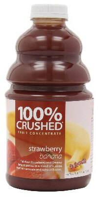 dr. smoothie strawberry banana 100 percent crushed fruit concentrate 46 oz (6 pack)
