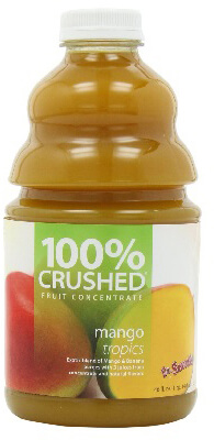 dr. smoothie mango tropics 100 percent crushed fruit concentrate 46 oz. (3 pack)