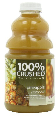 dr. smoothie pineapple paradise 100 percent crushed fruit concentrate 46 oz. (6 pack)