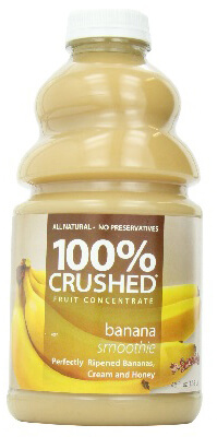 dr. smoothie banana smoothie 100 percent crushed fruit smoothie concentrate 46 oz. (6 pack)
