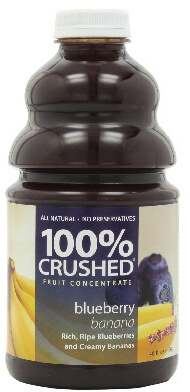dr. smoothie blueberry banana 100 percent crushed fruit smoothie concentrate 46 oz. (2 pack)