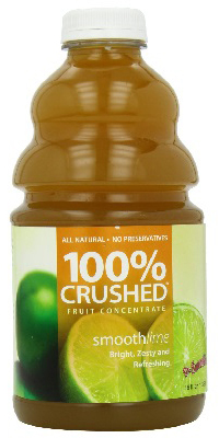 dr. smoothie smooth lime 100 percent crushed fruit smoothie concentrate 46 oz. (6 pack)