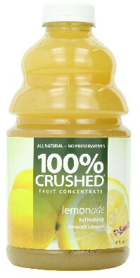 dr. smoothie lemon-ade 100 percent crushed fruit smoothie concentrate 46 oz. (2 pack)