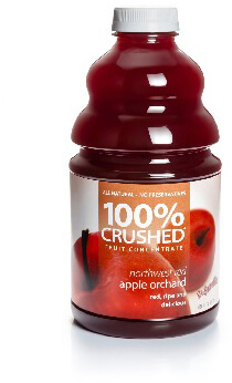 dr. smoothie northwest red apple orchard 100 percent crushed fruit smoothie concentrate 46 oz.
