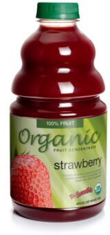 dr. smoothie organic strawberry smoothie concentrate 3 pack (46 ounce bottles)